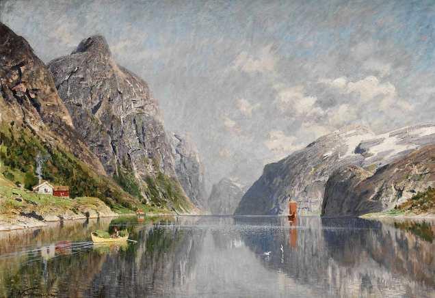 Adelsteen_Normann-Norsk_fjordlandskap