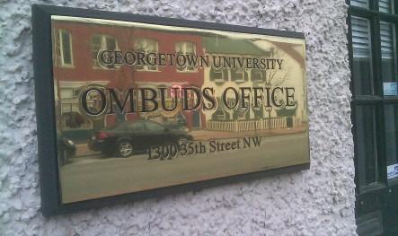 Georgetown_University_Ombudsman_sign