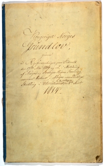 Norges_grunnlov_av_4_november_1814_forsiden